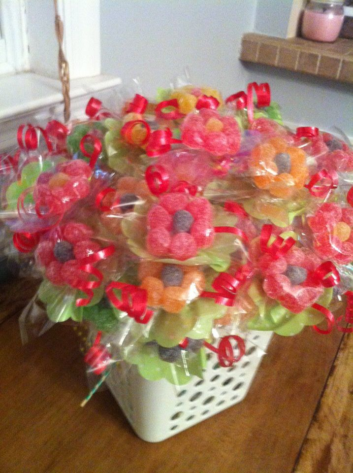 Candie Flowers for kids... I used for Valentine's Day at my daughter's day care.