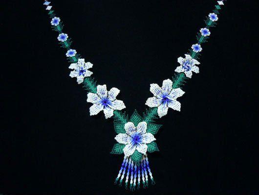 de cinco flores collar huichol-Collares-Identificación del producto:114835670-spanish.alibaba.com
