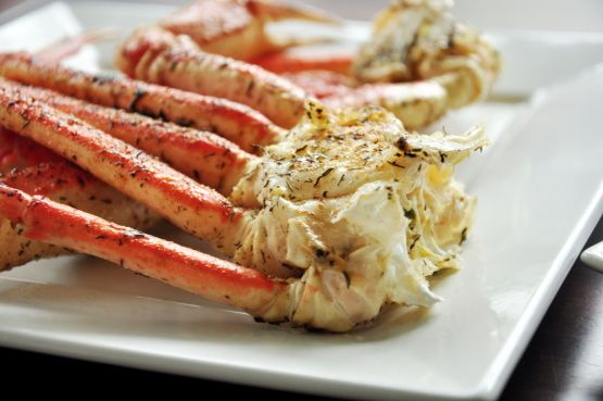 Grilled Crab Legs~ Forget about those stinky pots of boiling water and pools of water on your dinner plates.  On the grill or under the broil IN SHELL is the ONLY way to go!