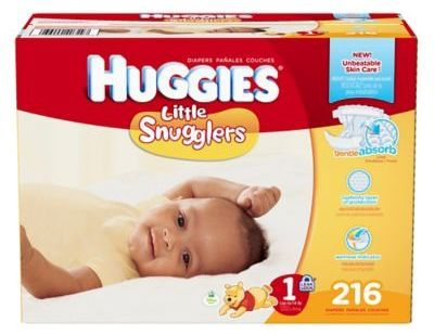Huggies Little Snugglers 216-Count Size 1 Diapers