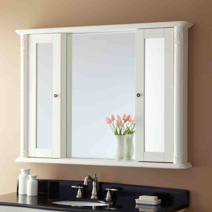 Bathroom Mirrors With Shelf 14 best better bathroom mirror cabinets images on pinterest