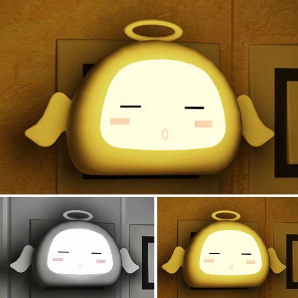Creative Cartoon Angel Light Control Sensor LED Night Lamp Baby Bedside Lamp