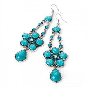 Cercei Candelabru Turquoise Taste - Cercei cu Pietre - Jewelry-Box.ro