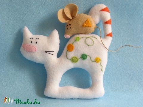 Elválaszthatatlan kisbarátok- macska-egér páros (Jam81) - Meska.hu