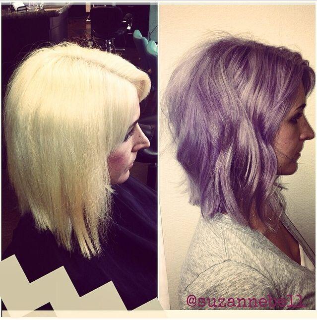 purple hair blonde