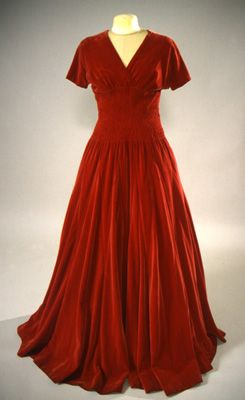 1940s evening gown