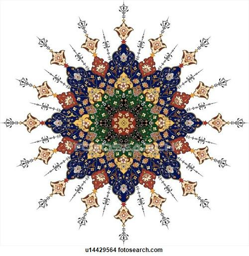 Clipart of Red, blue, green and tan Arabesque Design u14429564 - Search Clip Art, Illustration Murals, Drawings and Vector EPS Graphics Images - u14429564.eps
