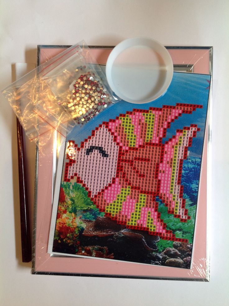 Roze Vis setje Elk setje bevat alle benodigdheden zoals op de foto.