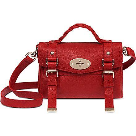 MULBERRY Alexa mini buffalo leather satchel (Bright red