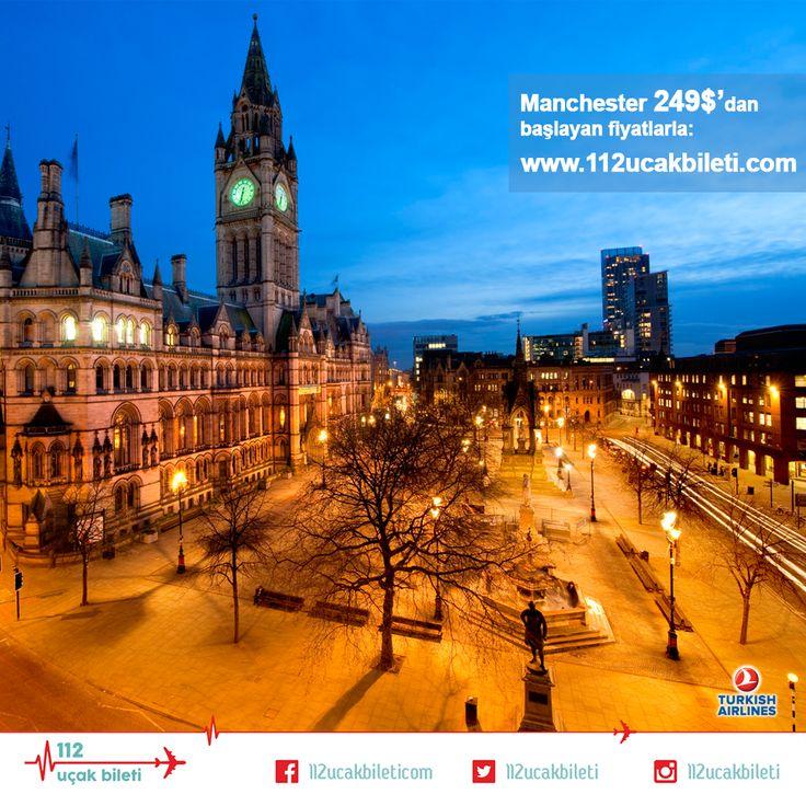 İnsanlar için ilk #aşkı ne kadar özelse, bizim için de #Manchester o kadar #özel ve #güzel. #uçakbileti