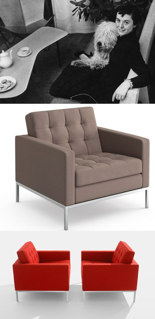 Florence Knoll Lounge Chair - 1954 Warmed through color and texture, the Florence #Knoll #Lounge Collection is a scaled-down translation of the rhythm and proportions of mid-century #modern #architecture.  http://www.knoll.com/product/florence-knoll-lounge-chair