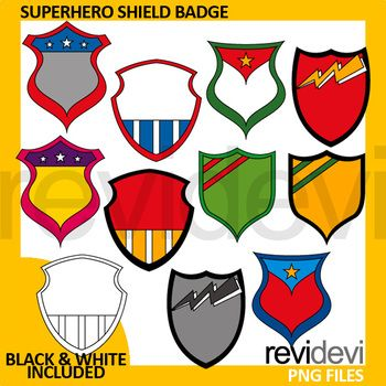 Superhero clip art set featuring shield badge. A great collection to be used as tagas or labels. Great for any subjects and any grades! This clip art set can be purchased in a BUNDLE at a discounted price. Just click below link! https://www.teacherspayteachers.com/Product/Superhero-Clip-Art-Spring-Club-for-Commercial-Use-Clipart-3000799