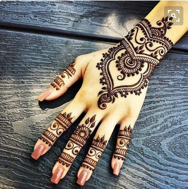 bridal, henna, indian More