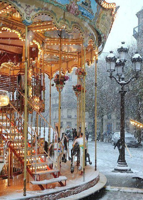 Carousel In the snow                                                                                                                                                      More
