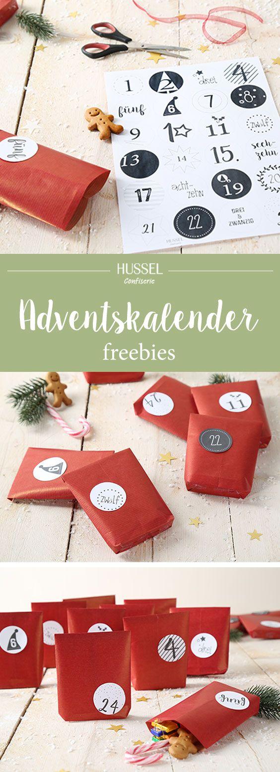 DIY-Adventskalender zum Ausdrucken - Hussel Confiserie