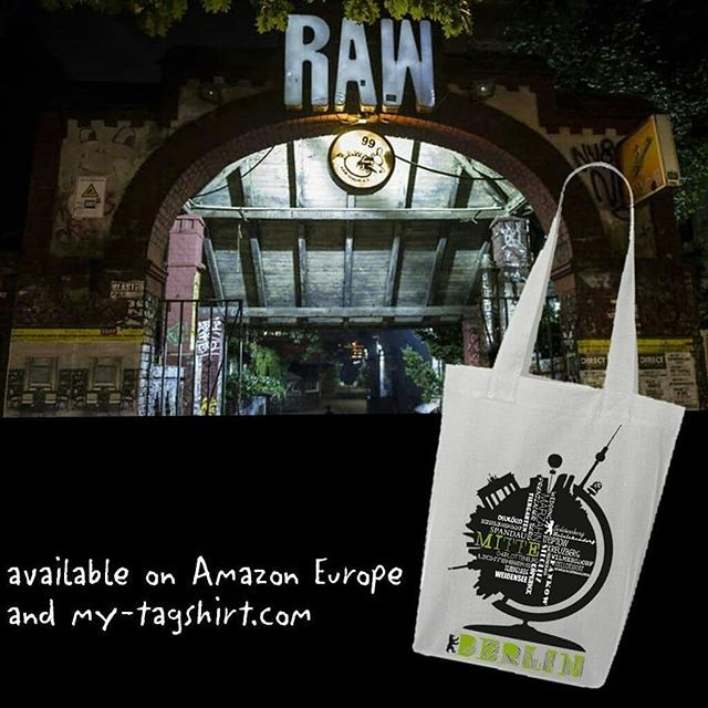 http://www.my-tagshirt.de/Berlin-Globus_1 In our neighborhood: the entrance to party music concerts dancing and drugs - RAW #streetwear  #handmade in #Berlin  100% #organic #cotton  100% #fairtrade #totebag #jute #jutebeutel #fourre-tout #borsa #bolsa  #berlin #wall #party #fhain