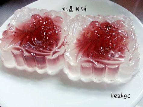 洁之乐园O(∩_∩)O哈哈哈~: 水晶果冻月饼(葡萄味)