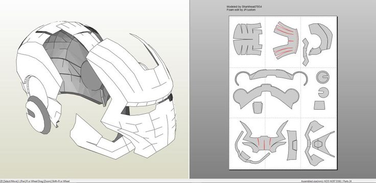 Papercraft .pdo file template for Iron Man - Mark 2 Full Armor +FOAM+.