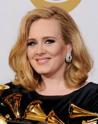Adele hairstyle--obviously I would go darker