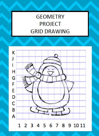 Geometry Grid Drawing Project - great for Similarity Unit