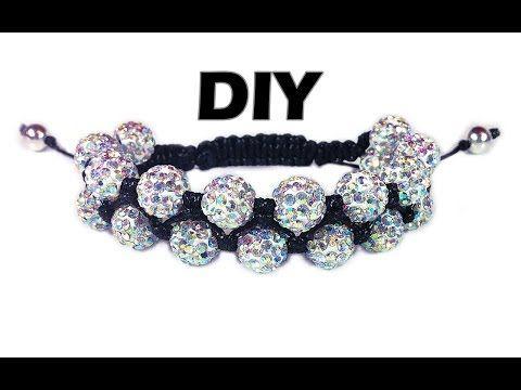 DIY: Double shamballa bracelet / Двойной браслет шамбала своими руками