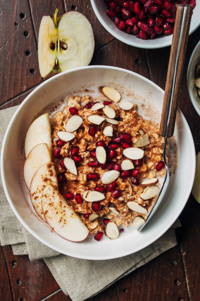 Pumpkin Apple Overnight Oats | Well and Full | #vegan #recipe