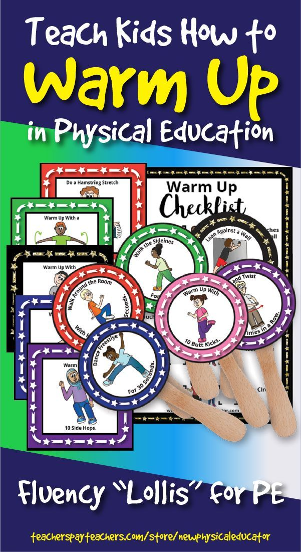 "Warm-Up ""Lollipop"" Fluency Set for Physical Education Elementary  #education #el…"