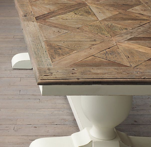 RH Baroque Parquet Dining Tablescould A Be Done On Top