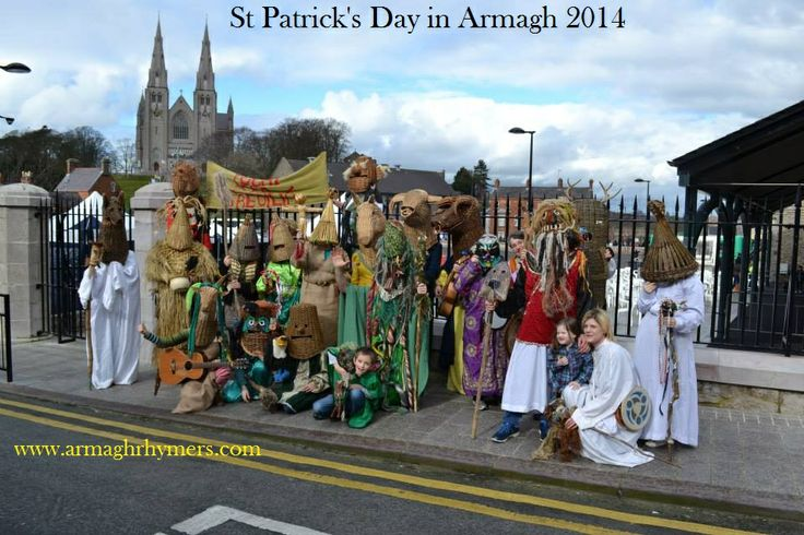 Rhymers at the end of St Patrick's Parade, Armagh 2014