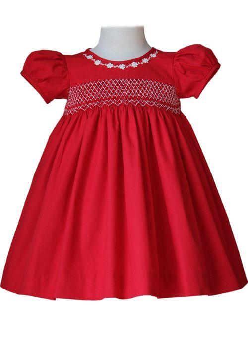 Sofia Baby & Girls Smocked Red Christmas Dress – Carousel Wear