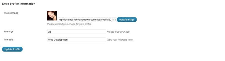 Add And Remove WordPress User Profile Fields And Display Them Within Your Theme