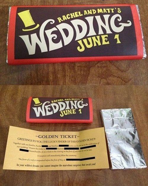 Ingeniosa invitacion de boda #1