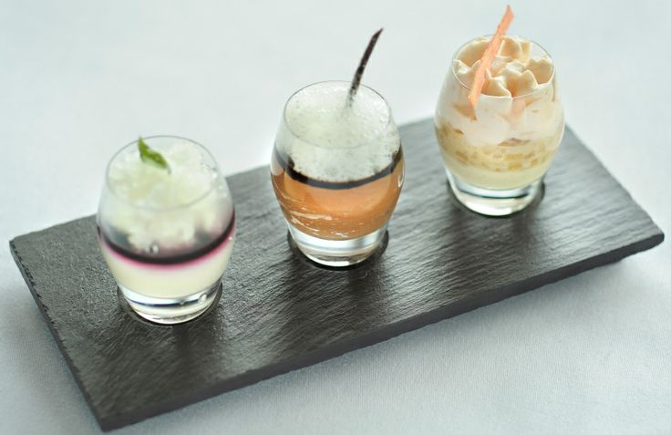 Ice cream plate made from the finest Welsh Slate. Three circle recesses to hold tea lights, glassware or serve food directly.