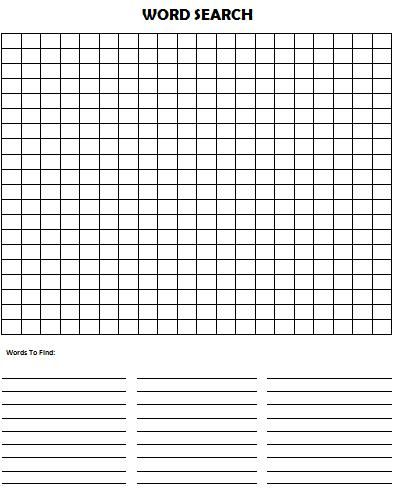 Make Your Own Word Search Puzzle (Free Printables) #KidsActivities