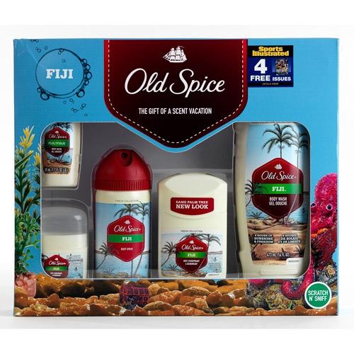 "Old Spice Fiji Gift Set with Bonus ""Sports Illustrated"" Subscription $5"