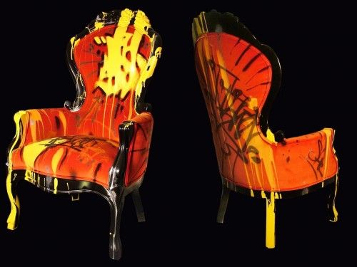 Just love this graffiti furniture by Stephen Selzler
