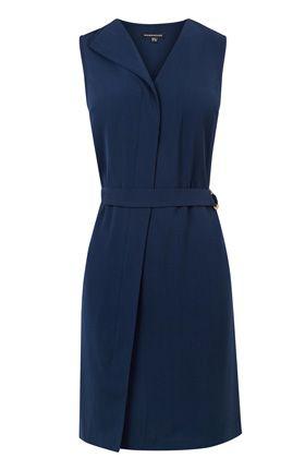 Dresses | Blue ASYMMETRIC BELTED DRESS | Warehouse £48.00