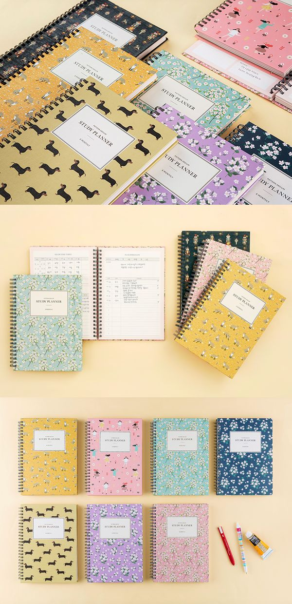 The Pattern Ardium Study Planner is the perfect tool to help you with your study! Included underneath the cute patterned cover, lies a dateless planner with lots of different contents like timetable or planners to give you an aid.