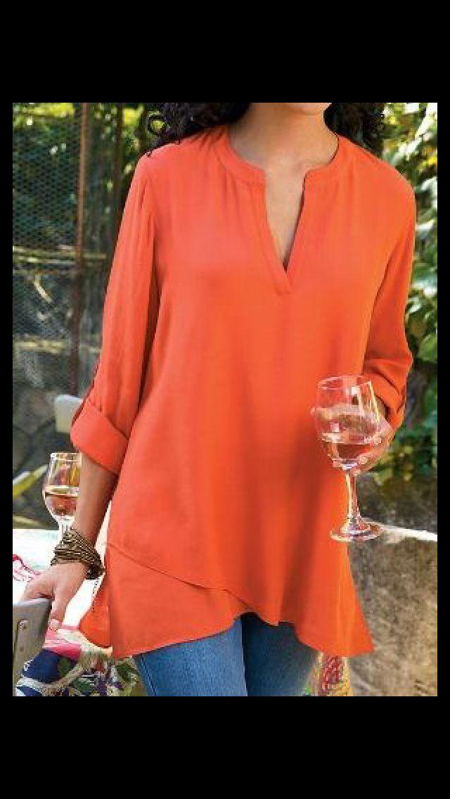 Stitch Fix Fall fashion. Orange tunic.