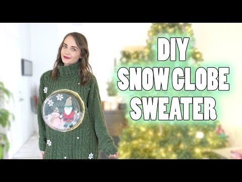 DIY Ugly Christmas Snow Globe Sweater   DIY Lifestyle Fashion Blog