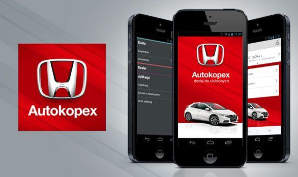 Aplikacja na smartfony Honda Autokopex  #mobile #app #car