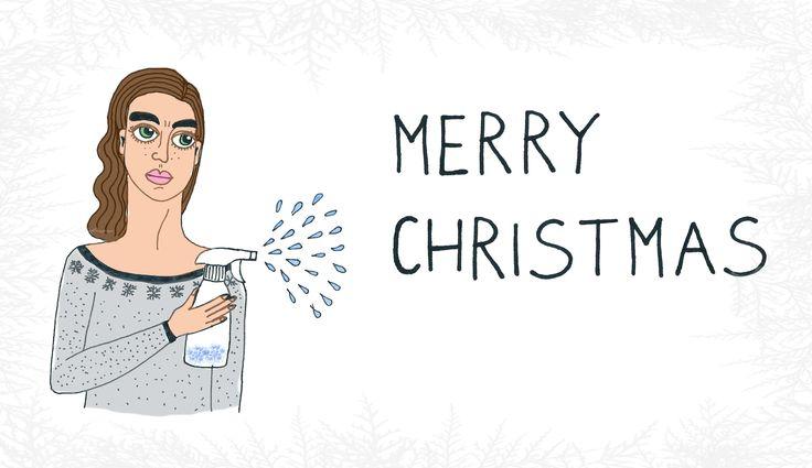 """""""Merry Christmas"""", print, B.Byra"""
