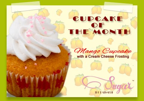 Get into this summer with our delicious Mango Cupcake - A fresh melt-in-your-mouth mango cupcake, made with the season's best, topped with a yummy whipped cream frosting. Available only for another 2 weeks, only at Sugar the Patisserie #Sugarthepatisserie #mumbaieats #mango #desserts #cupcakelove #mangorecipes #nomnom