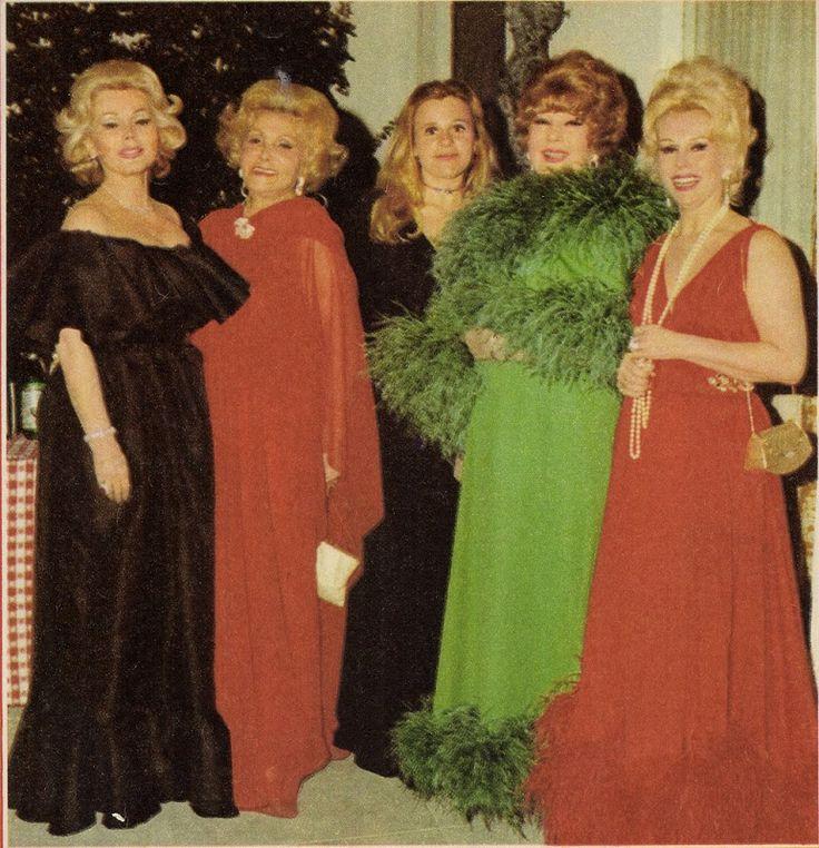 Zsa Zsa Gabor, Jolie Gabor, Francesca Hilton, Magda Gabor and Eva Gabor