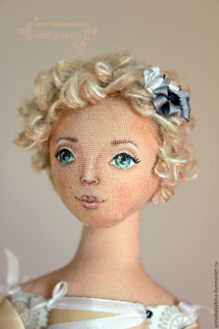 Купить Мастер-класс Волосы из пряжи для текстильной куклы, сделать прическу - мастер-класс
