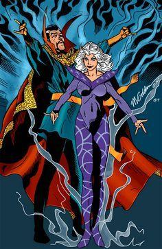 Doctor Strange & Clea by Michael Golden