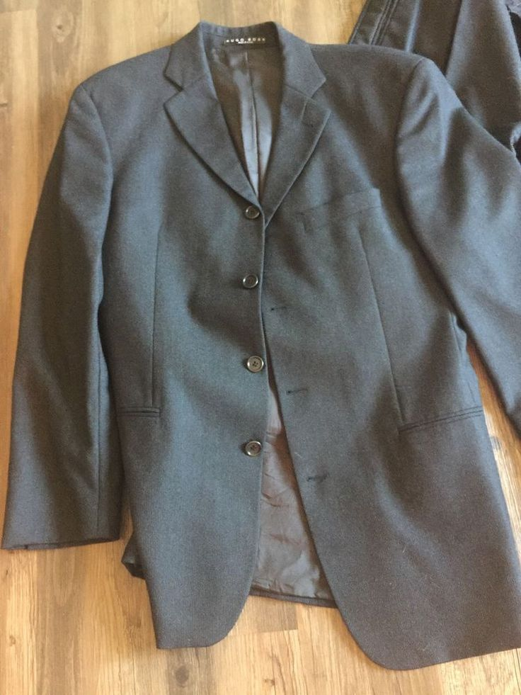 Hugo Boss Suit 4-button USA Dark Grey Gray 40 40r | Clothing, Shoes & Accessories, Men's Clothing, Suits | eBay!