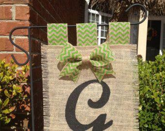Easter Burlap Garden Flag / Bunny Burlap by TrinasWreaths4Sanity