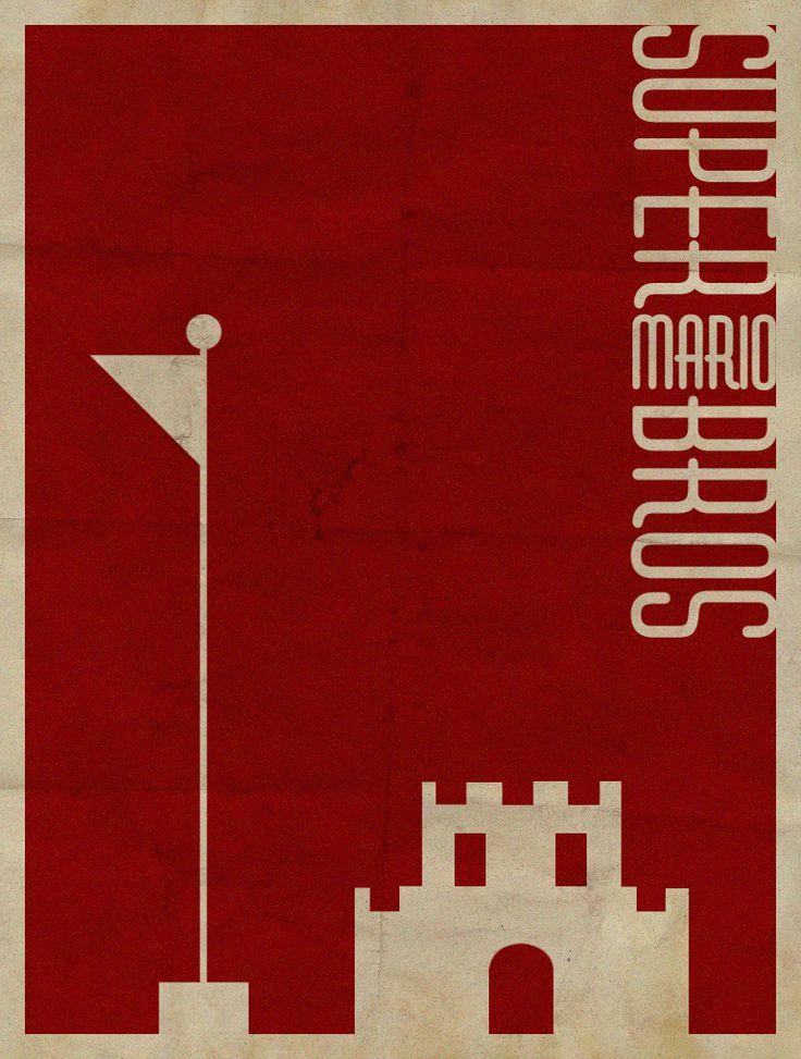Super Mario Bros Minimalist Poster by revoltersds on deviantART
