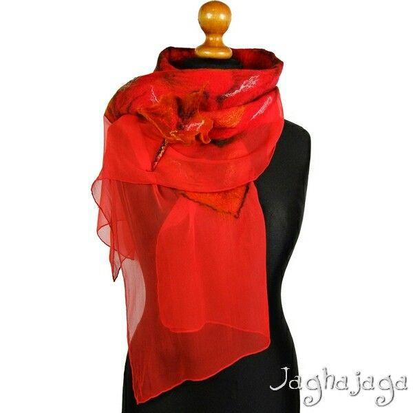 http://pl.dawanda.com/product/75898947-Red---Szal-filcowany-na-jedwabiu  #szal #filc #winter #red #trendy #top #youmustbuyit